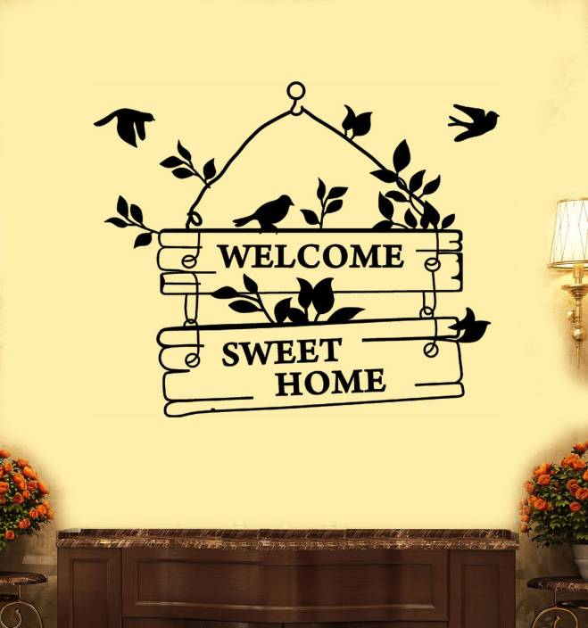 f25e3e39cb walkart Large wallstickers (7561) welcome to sweet home Sticker (Pack of 1)
