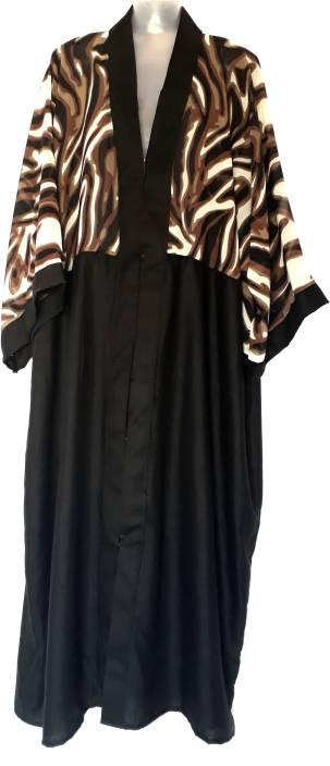 Bhopalstop Animal Print Dubai Style Abaya Designer Burqa Georgette