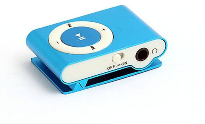 DRUMSTONE Mini Rechargeable Shuffle MP3 Player With SD Card Slot Design