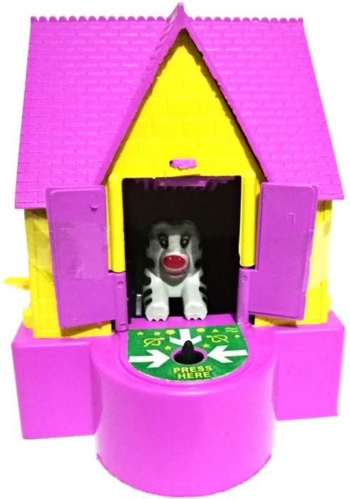 Reyansh Collection Puppy House Saving Bank Coin Box For Kids Coin