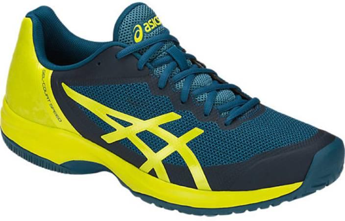 the latest a2d79 23a7d Asics GEL - COURT SPEED Tennis Shoes For Men (Blue, Green)
