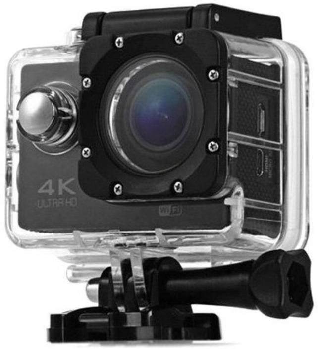 Gentle E Kart PowerShot 4K Ultra HD 12 MP WiFi Waterproof Digital & Sports Camcorder With Accessories Sports and Action Camera