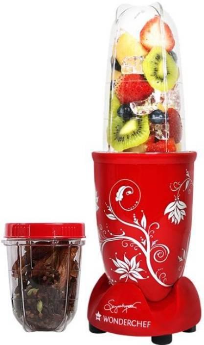 wonderchef nutri blend red with free recipe book 400 w juicer mixer