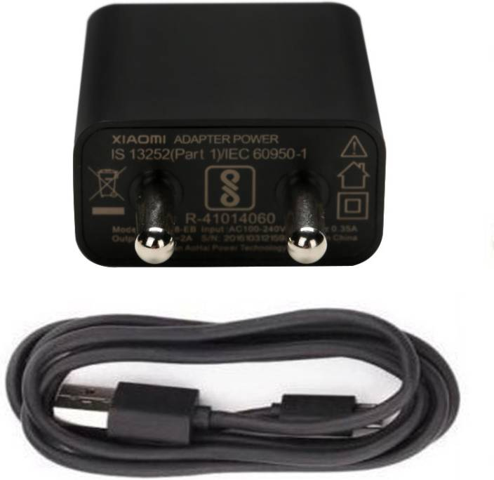 TrustEdge 100% Original Redmi 2 Amp Fast Charger For All Xiaomi, Mi, Redmi Phones Mobile Charger (Black, Cable Included)