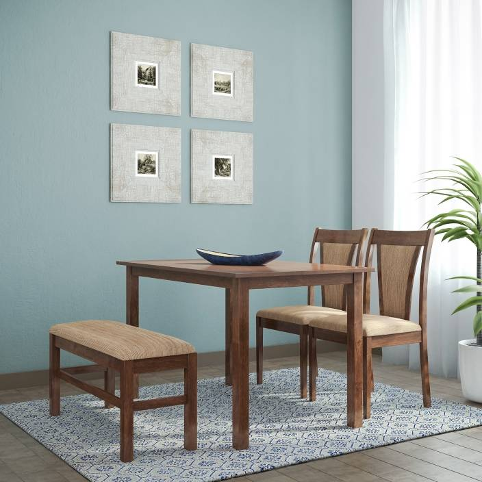 4 seater dining set oak home by nilkamal jewel solid wood seater dining set home price in india