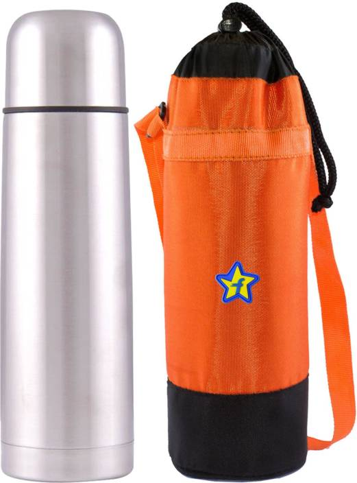 Flipkart SmartBuy Stainless Steel 350 ml Vacuum Flask with Cover (Keep Beverages Hot and Cold for Long Hours) 350 Flask