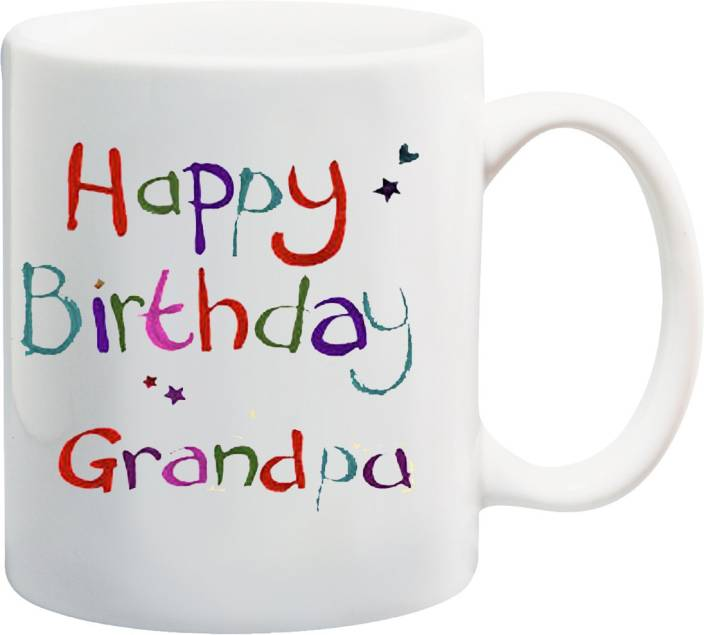 MEYOU Gifts For Grandpa Grandfather Dada Ji Dadu On Happy Birthday IZ17 VK MU 01344 Printed Ceramic Mug 325 Ml