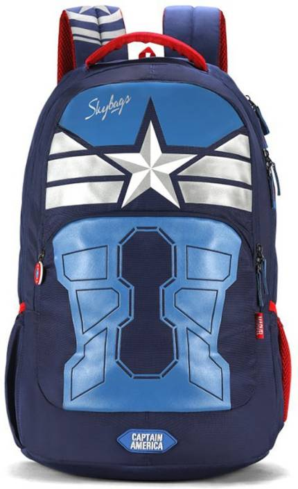 e12a3bf533fa Skybags Sb Marvel Extra 02 Blue 31 L Backpack Blue - Price in India ...