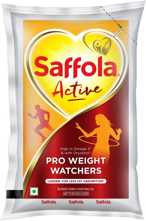 Saffola Active Blended Oil 1 L Pouch Price in India - Buy