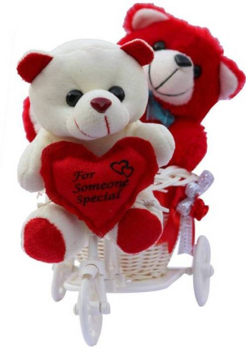 Me You Romantic Cycle Teddy Return Gifts For Wife Girlfriend Sister On Birthday Anniversary Rakhi Valentine S Day Iz18twrcy 001 Soft Toy Gift Set