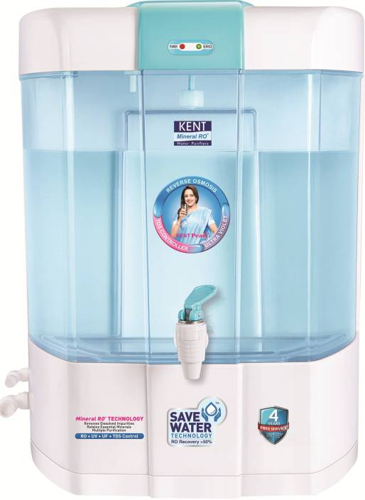 4463bf8b01e Kent PEARL(11002) 8 L RO + UV + UF Water Purifier (blue and white)