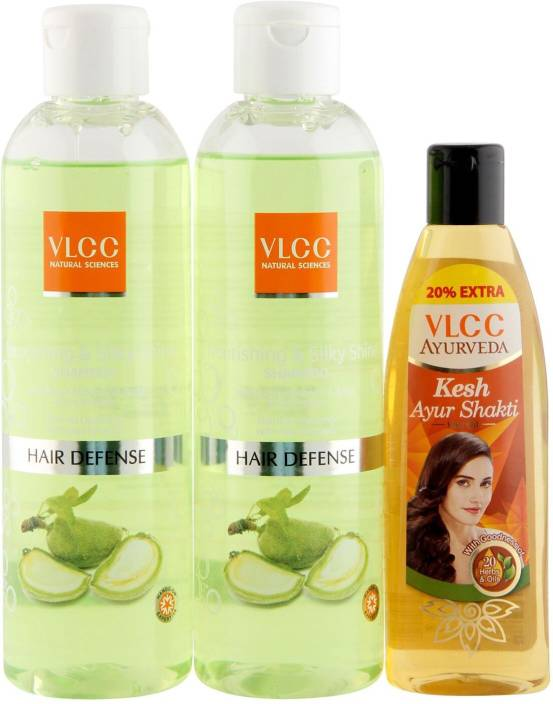 VLCC Shampoo and Hair Oil Combo  (3 Items in the set)
