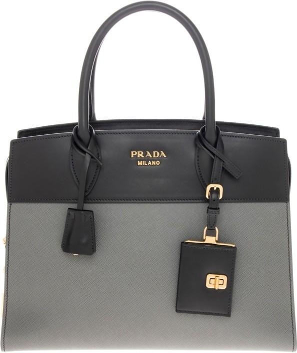 299e05999c19 ... canada buy prada tote black grey online best price in india flipkart  00f4c da901
