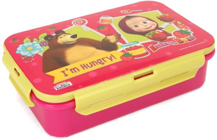 My Baby Excels Masha & Bear Pink Lunch Box 1 Containers Lunch Box