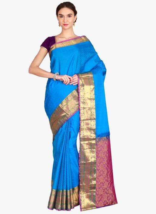 f4b5fdf5a8 Buy The Chennai Silks Woven Banarasi Pure Silk Multicolor Sarees ...