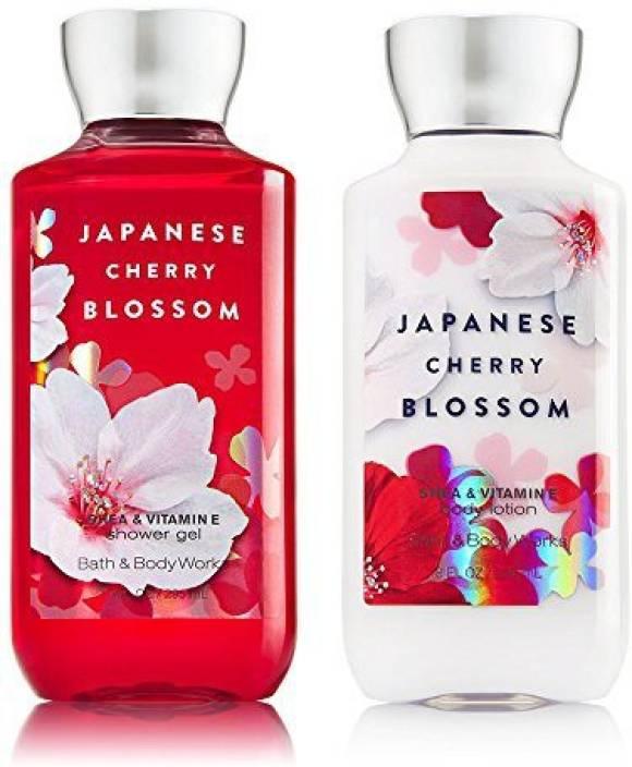 cb7e745df95b Bath & Body Works Japanese Cherry Blossom Shower Gel & Body Lotion (236 ml)
