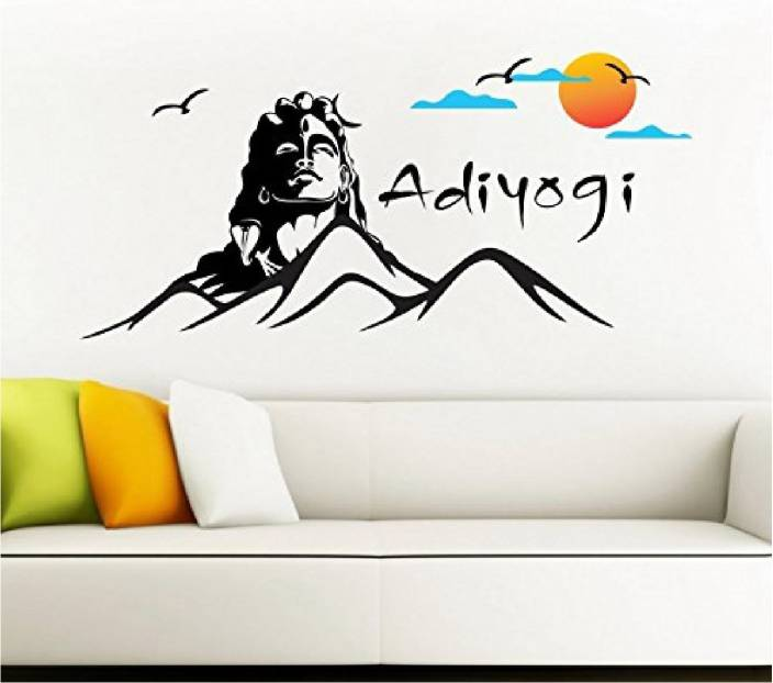 marvellous large lord shiva wall sticker/ god shiva vinyl wall decal