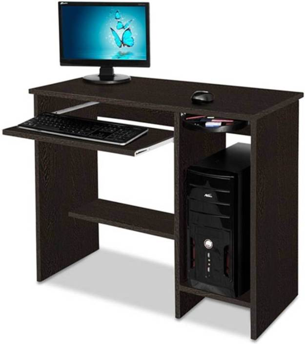 Delite Kom Nice Computer Table Wenge Engineered Wood Desk Straight Finish Color