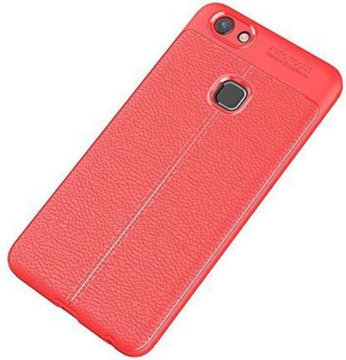 brand new 83b9d c67b5 MODIK Back Cover for Vivo V7 Plus Soft SiliCon Leather Pattern TPU ...