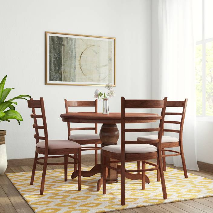 Royaloak Coco Solid Wood 4 Seater Dining Set Price In India Buy