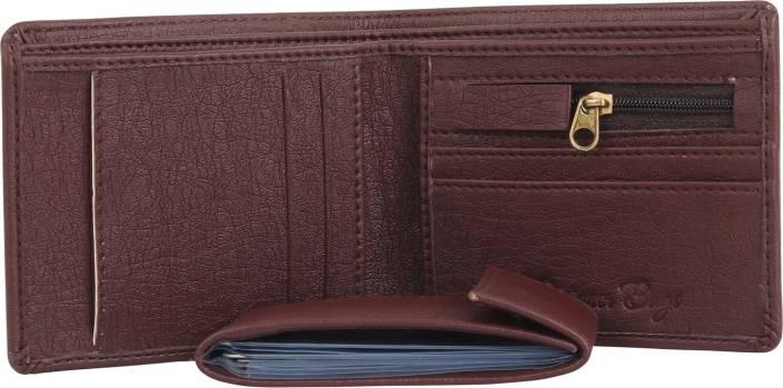 Designer Bugs Men Brown Artificial Leather Wallet