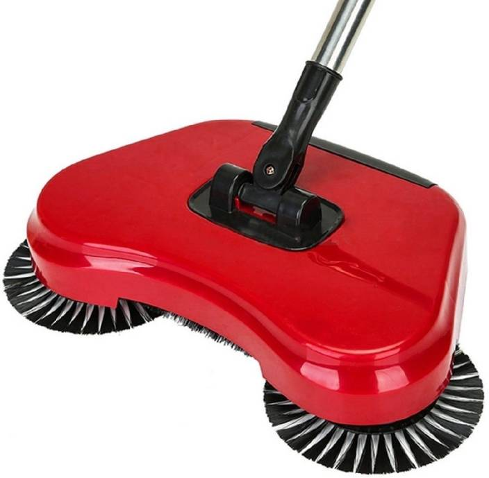 Wishpool Sweep Drag All-In-One Household Hand Push Rotating Sweeping Broom  Room Floor Sweeper Cleaner Dust Mop Set (Multicolor) COLOR AS PER