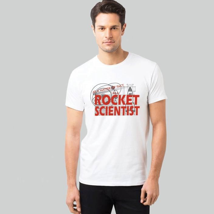 SIN16 Printed Men Round Neck White T-Shirt