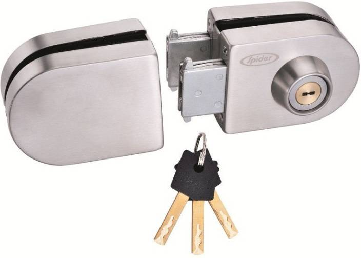 1604d9f5650 Spider Glass Door Lock Oval Lock with SS Finish