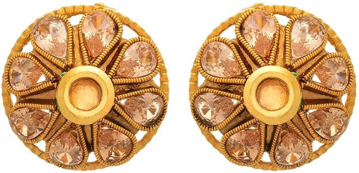 a0d51e0e1 Flipkart.com - Buy JFL-Jewellery For Less JFL - Traditional Ethnic One Gram  Gold Plated Diamond & Kundan Designer Earring for Girls & Women.