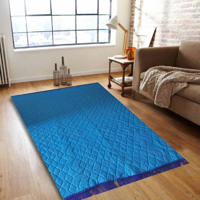 Royal Decor Light Blue Jute Carpet