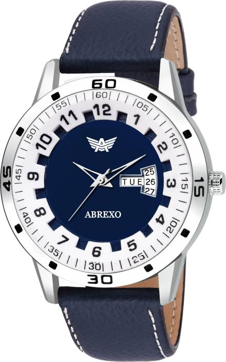 Abrexo -Blue Gents Exclusive Ring Modify Design Abx1757-Neavyblue Day and Date Functioning Watch - For Men