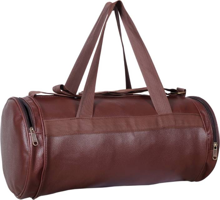 Avigo Retro Faux Leather Gym Bag Brown - Price in India