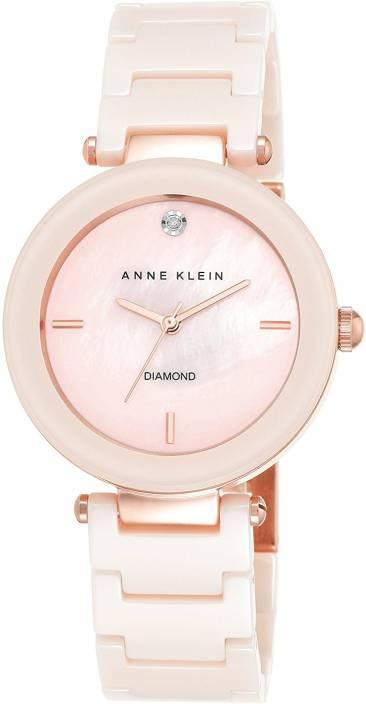 92a085c78 Anne Klein Pink18453 Anne Klein Women's AK/1018PMLP Diamond-Accented Light  Pink Watch With Ceramic Bracelet Watch - For Women - Buy Anne Klein  Pink18453 ...