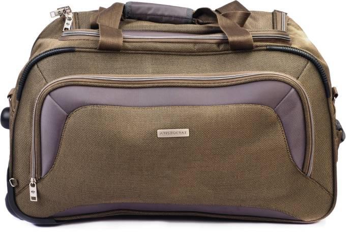 768741accff7 Aristocrat Crysta 57 cm Duffle on Wheel (Olive) Travel Duffel Bag (Green)