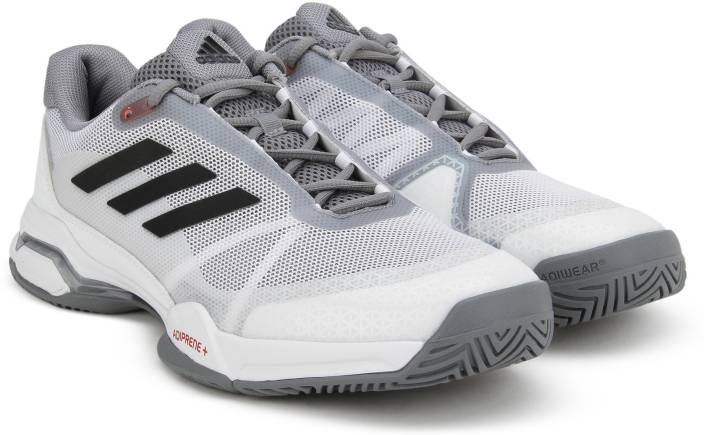 low priced 633b0 d2815 ADIDAS BARRICADE CLUB Tennis Shoes For Men (White)