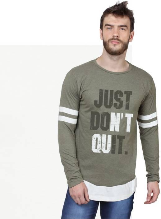 SayItLoud Printed Men's Round Neck Green, White T-Shirt