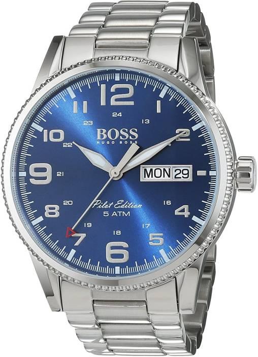 95d805142 Hugo Boss Blue1900 Hugo Boss Pilot Vintage 1513329 Silver / Blue Stainless  Steel Analog Quartz Men's Watch Watch - For Men - Buy Hugo Boss Blue1900  Hugo ...