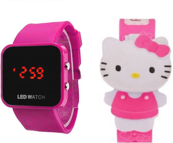 d96f0970c COSMIC COMBO OF LIGHT PINK HELLO KITTY DIGITAL WATCH WITH PINK LED Watch -  For Boys & Girls - Buy COSMIC COMBO OF LIGHT PINK HELLO KITTY DIGITAL WATCH  WITH ...