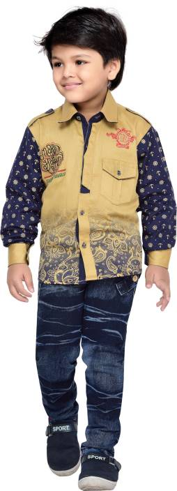 AJ Dezines Boys Party(Festive) Shirt Jeans