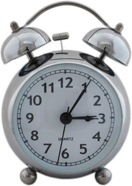 Tootpado Analog Twin Bell Alarm Clock With Light 5 Inch