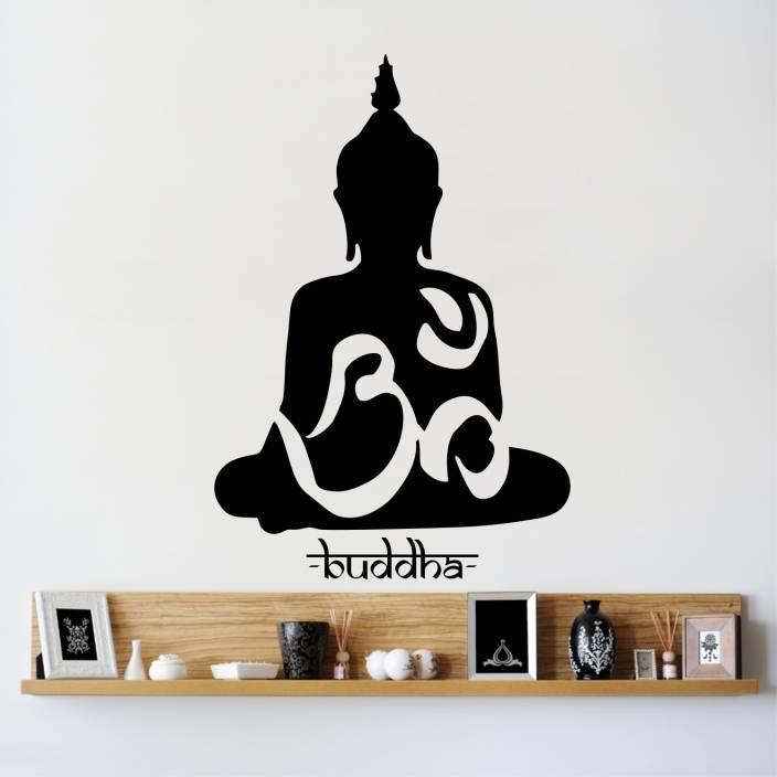 44c1b829a1e StickersYard Medium Buddha In Meditation Wall Sticker   Decal Sticker (Pack  of 1)