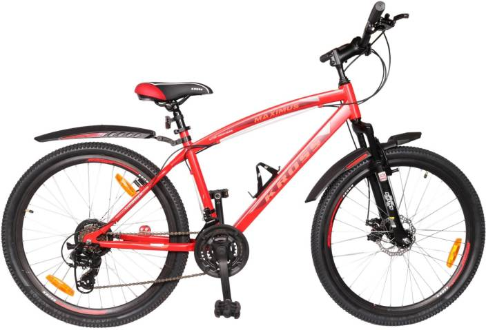 560ab1a0a87d Kross Maximus Disc Brakes Bicycle For Adults Red 26 T Mountain Hardtail  Cycle (21