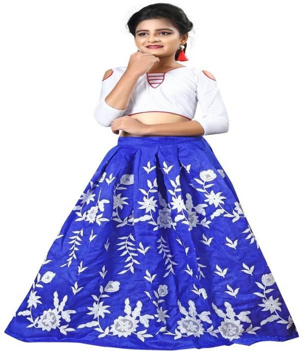 10f6736f7255 F Plus Fashion Girls Lehenga Choli Party Wear Embroidered Lehenga Choli  (Pink, Pack of 1)