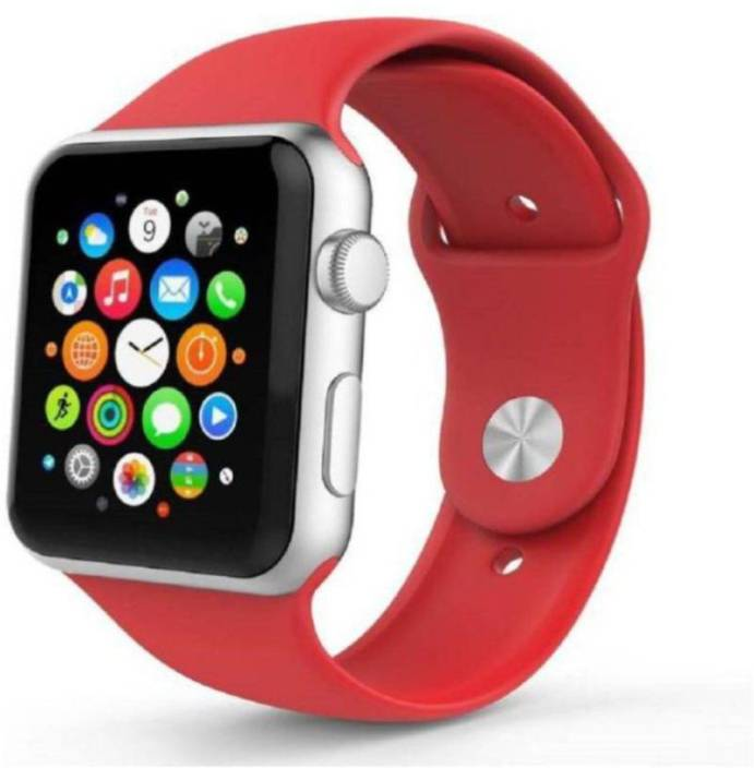 7b57b436056 GAZZET Oppo,Vivo,Mi 4G Calling A1 Wrist Watch White Strap Smart Watches Red  04 Red Smartwatch (Red Strap M)