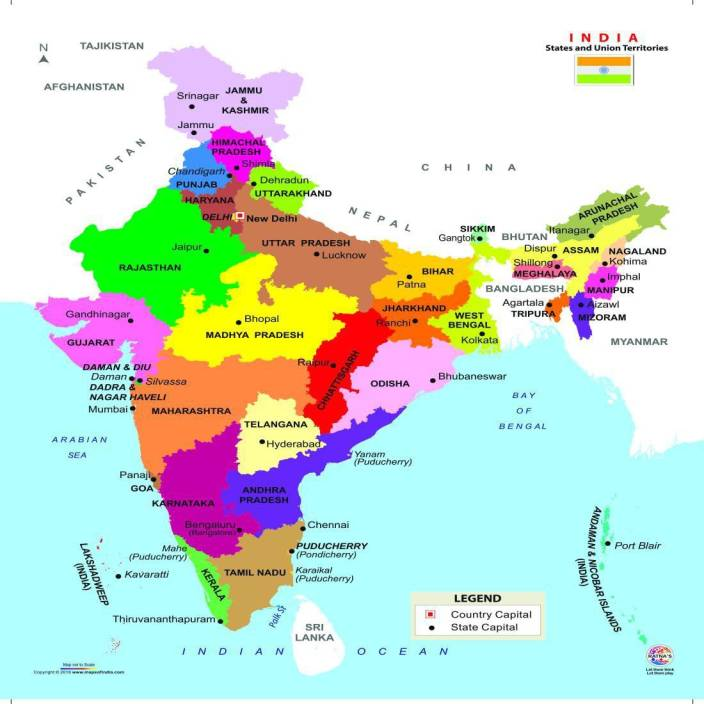 Ratnas INDIA MAP JIGSAW FOR KIDS.LET YOUR KID LEARN ABOUT DIFFERENT ...