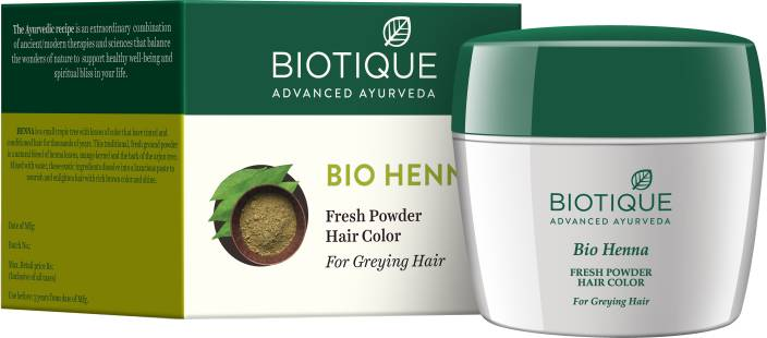 Biotique Bio Henna Fresh Powder Hair Color For Greying Hair Price
