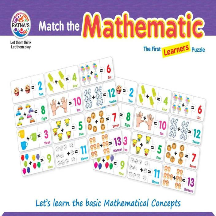 Ratnas MATCH THE MATHEMATIC JIGSAW FOR KIDS - MATCH THE ...