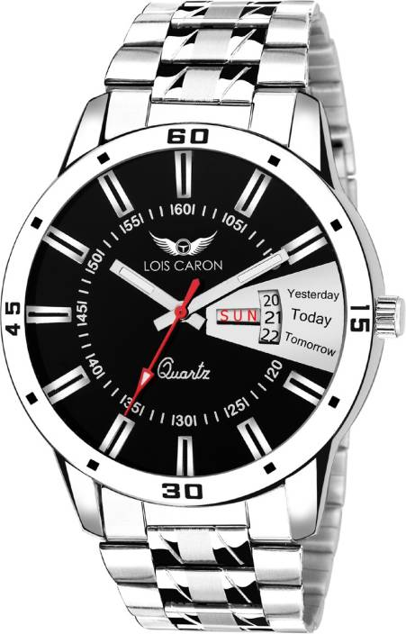 abb5a9c2cf7 Lois Caron LCS - 8003 DAY   DATE DAY   DATE FUNCTIONING Watch - For Men -  Buy Lois Caron LCS - 8003 DAY   DATE DAY   DATE FUNCTIONING Watch ...