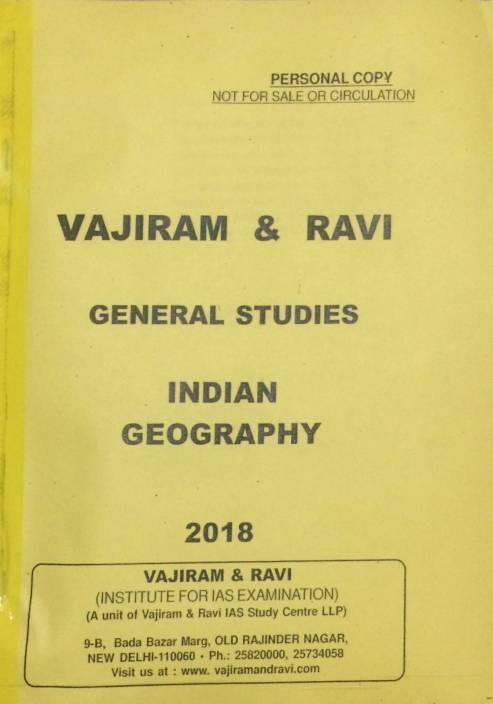 VAJIRAM & RAVI Study Material ( Pre Cum Mains) Latest 2018