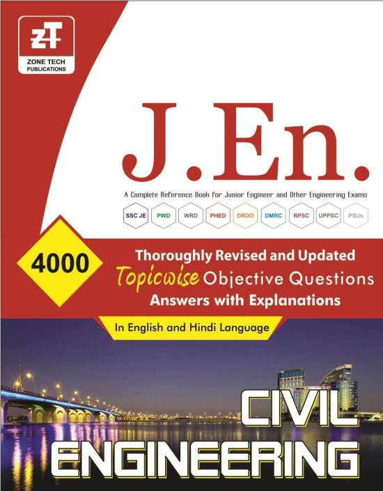 JUNIOR ENGINEER (Civil Engineering) Topic Wise Objective Questions Book (ENGLISH & HINDI Paperback, ZONE TECH PUBLICATION)
